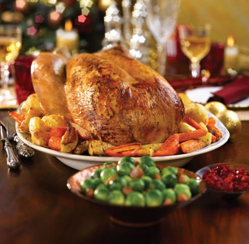 Roast turkey with thyme and onion stuffing mummypages for How to cook a 7kg turkey