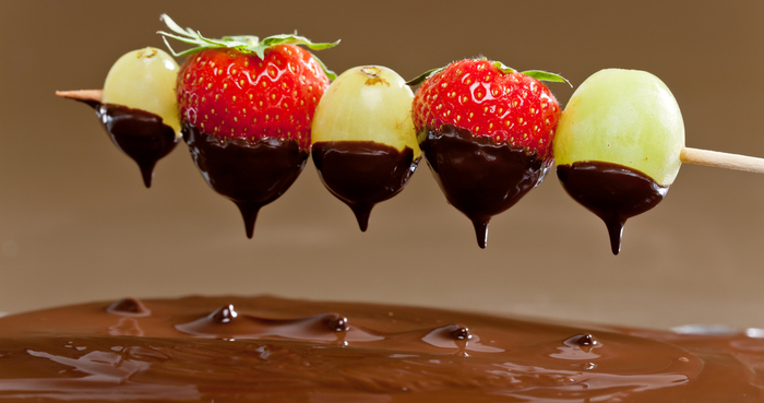 Fruit Kebabs With Melted Chocolate Recipes — Dishmaps