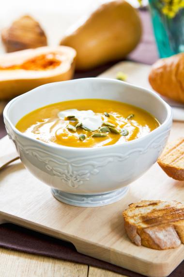 Roasted butternut squash soup with toasted... | MummyPages.MummyPages ...