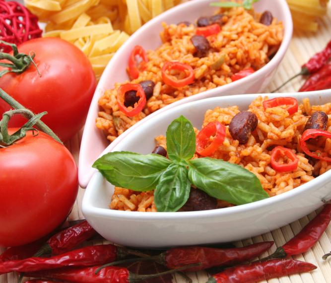 ... with this spicy aromatic rice main ingredients beans vegetables rice
