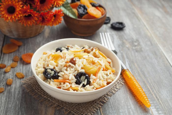 Рис с сухофруктами в мультиварке рецепт