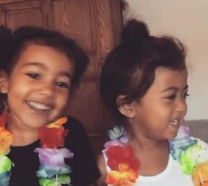 North Wests face swap with her little buddy is the best thing EVER