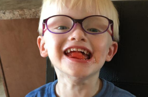 Three-year-old (and his glasses) teaches mum not to mind gender stereotypes
