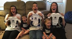 Parents organise the SWEETEST triplet gender reveal for their five kids