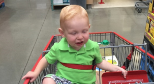 Back to the future: Dad shares young son's HILARIOUS shopping trip coincidence