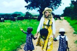 Todays blessing: Madonna dotes over newly adopted twin daughters in adorable photo