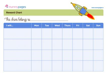 Get your little guy motivated with his own reward chart. Just click ...